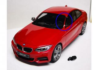 Damaged Model! BMW M235i rot Limited Edition 1250 Stück GT Spirit (OttO mobile) 1:18 resin model (A-pillar on the driver`s side broken)