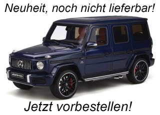MERCEDES-AMG G63 2020 Canvasite Blue GT Spirit 1:18 Resinemodell (Türen, Motorhaube... nicht zu öffnen!) Available from end of March 2020