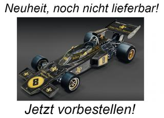 Lotus 72D John Player Special 1972 British GP Emerson Fittipaldi Kit métal 1:8 Pocher <br> Availability unknown (not before December 2021)