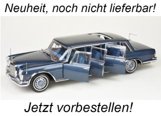 "Mercedes-Benz 600 Pullman ""King of Rock`n Roll"", blue, Limited Edition 800 pcs CMC 1:18<br> Availability unknown"