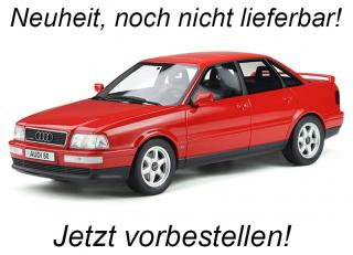 Audi 80 (B4) quattro Competition Laser Red OttO mobile 1:18 Resinemodell (Türen, Motorhaube... nicht zu öffnen!) <br> Available from end of October 2020