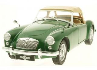 MGA 1959 MKI Twin Cam closed soft top green Triple9 Collection 1:18