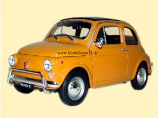 Fiat 500 1957 gelb (hellbraun) Welly 1:18