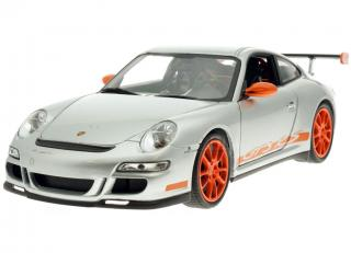 Porsche 911 (997) GT3 RS - metallic Silber / orange  Welly 1:18