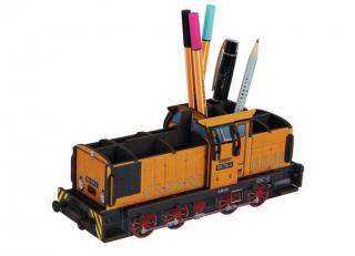 Werkhaus Penbox Diesel Locomitive V60 Goldbroiler Measurements: 9,5 x 24 x 7,2 cm (H x B x T) wood fibreboard, rubber band