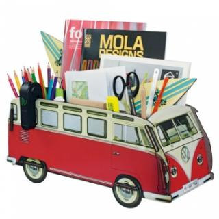 Werkhaus Office Organizer VW T1 - Red Measurements: 18,5 x 42 x 17,5  wood fibreboard, rubber bandSafari