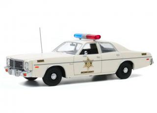 Dodge Coronet 1975 *Hazzard County Sherif*, white Greenlight 1:18