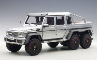 MERCEDES BENZ G63 AMG 6x6 (SILVER) 2013 (COMPOSITE MODEL/FULL OPENINGS) AUTOART 1:18