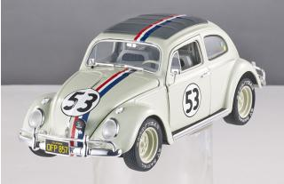 "VW Käfer Volkswagen Beetle ""Herbie Goes Monte Carlo"" Mattel Elite 1:18"