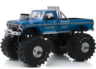 Ford F-250 Monster Truck with 66-Inch Tires Bigfoot #1 1974 *Kings of Crunch*, blue Greenlight 1:18