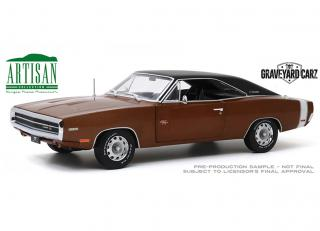 Dodge Charger R/T 1970 *Graveyard Carz (2012-Current TV Series*, dark burnt orange poly with black roof Greenlight 1:18 Greenlight 1:18