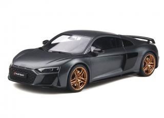 This week`s offer: <br>AUDI R8 DECENNIUM grau GT Spirit 1:18 Resinemodell (Türen, Motorhaube... nicht zu öffnen!)<br>Valid until 17.07.2020 or until stocks last!