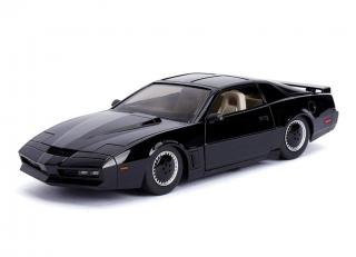 Pontiac Firebird Knightrider KITT with Working Lights on the Front Hood, black 1982 Jada 1:24
