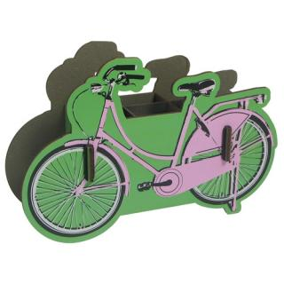 Werkhaus Penbox bike pink Measurements: 20 x 12 x 5 cm (H x W x D) wood fibreboard, rubber band
