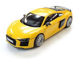 Audi R8 V10 2015 gelb Industriemodell (in Audi-Verpackung) iScale 1:18