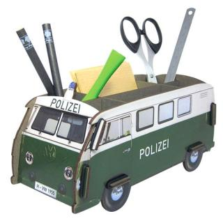 Werkhaus Penbox VW T1 - Polizei   Measurement: 11 x 22 x 10 cm (H x W x D) wood fibreboard, rubber band