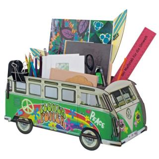 Werkhaus Office Organizer VW T1 - Hippie Measurements: 18,5 x 42 x 17,5  wood fibreboard, rubber bandSafari