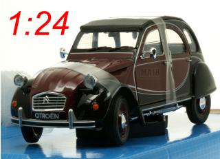 Citroen 2CV 6 Charleston rot/schwarz Welly 1:24
