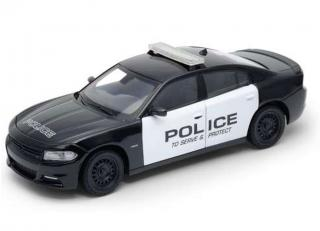 Dodge Charger R/T Pursuit Police 2016 black/white Welly 1:24