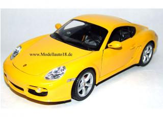 Porsche Cayman S gelb Welly 1:18