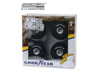 66-Inch Monster Truck *Goodyear* Wheel & Tire Set Reifen und Felgen Kings of Crunch Greenlight 1:18