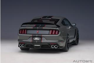 Ford Shelby GT-350R 2017 (lead foot grey/black stripes) (composite model/full openings) AUTOart 1:18 Composite