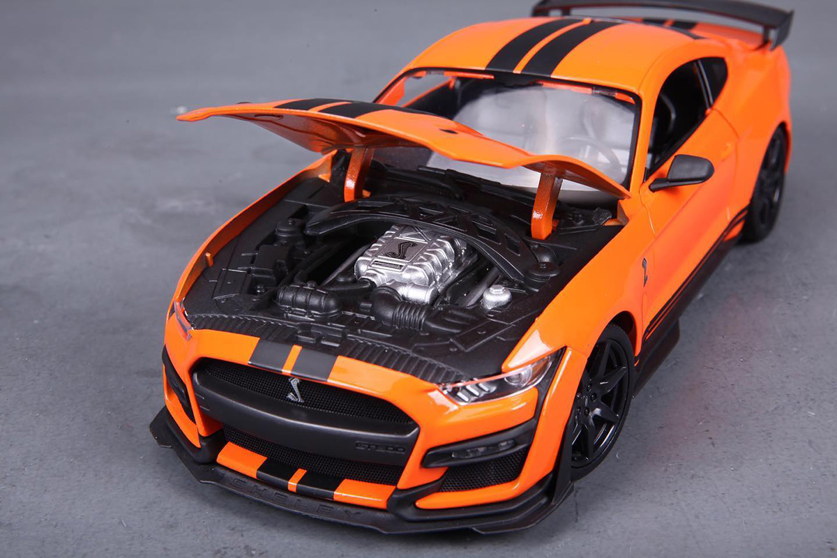 Voiture miniature Ford Mustang Shelby GT 500 2020 orange ...