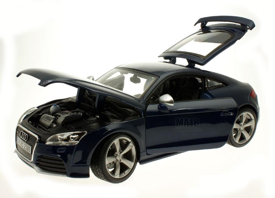Modellauto Audi Tt Rs Blau Burago 1 18 Bei Modellauto18 De