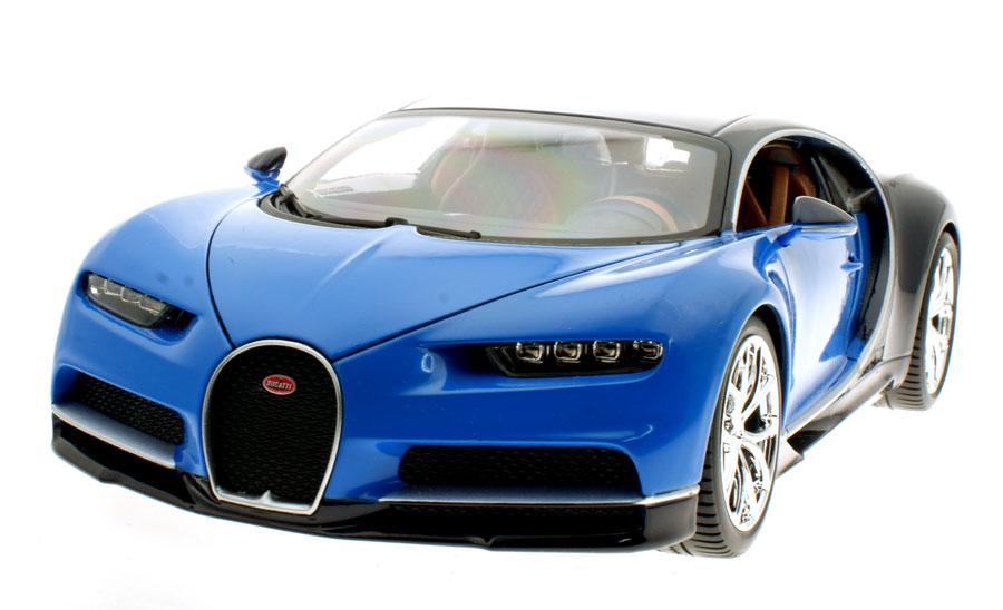 modellauto bugatti chiron blau schwarz maisto 1 18 bei. Black Bedroom Furniture Sets. Home Design Ideas