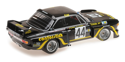 BMW 3.5 CSL – A.S.P.M.-TANDAY MUSIC – JUSTICE/BELIN – 24H LE MANS 1976 Minichamps 1:18 Metallmodell mit Geschlossener Karosserie