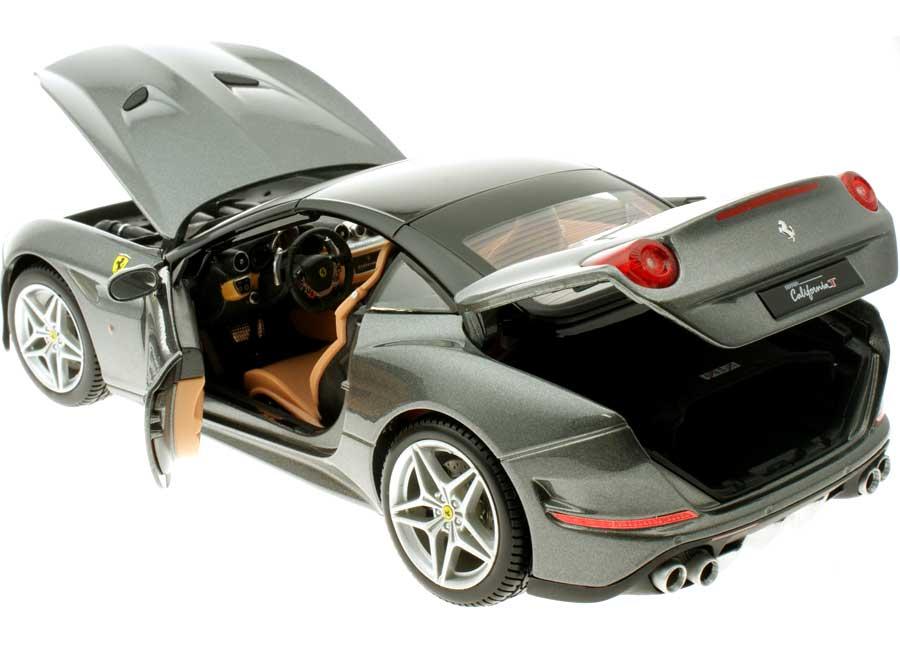 16902gy 1:18 Bburago Ferrari California t closed top gris ferrari Signature