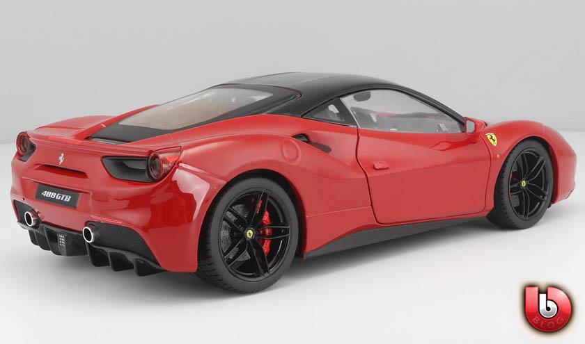 Modellauto Ferrari 488 Gtb Rot Burago Signature Serie 1 18 Bei