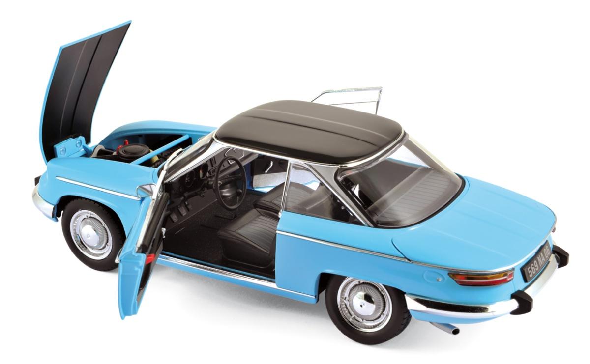 voiture miniature panhard 24 ct 1964 tolede blue black norev 1 18 sur. Black Bedroom Furniture Sets. Home Design Ideas