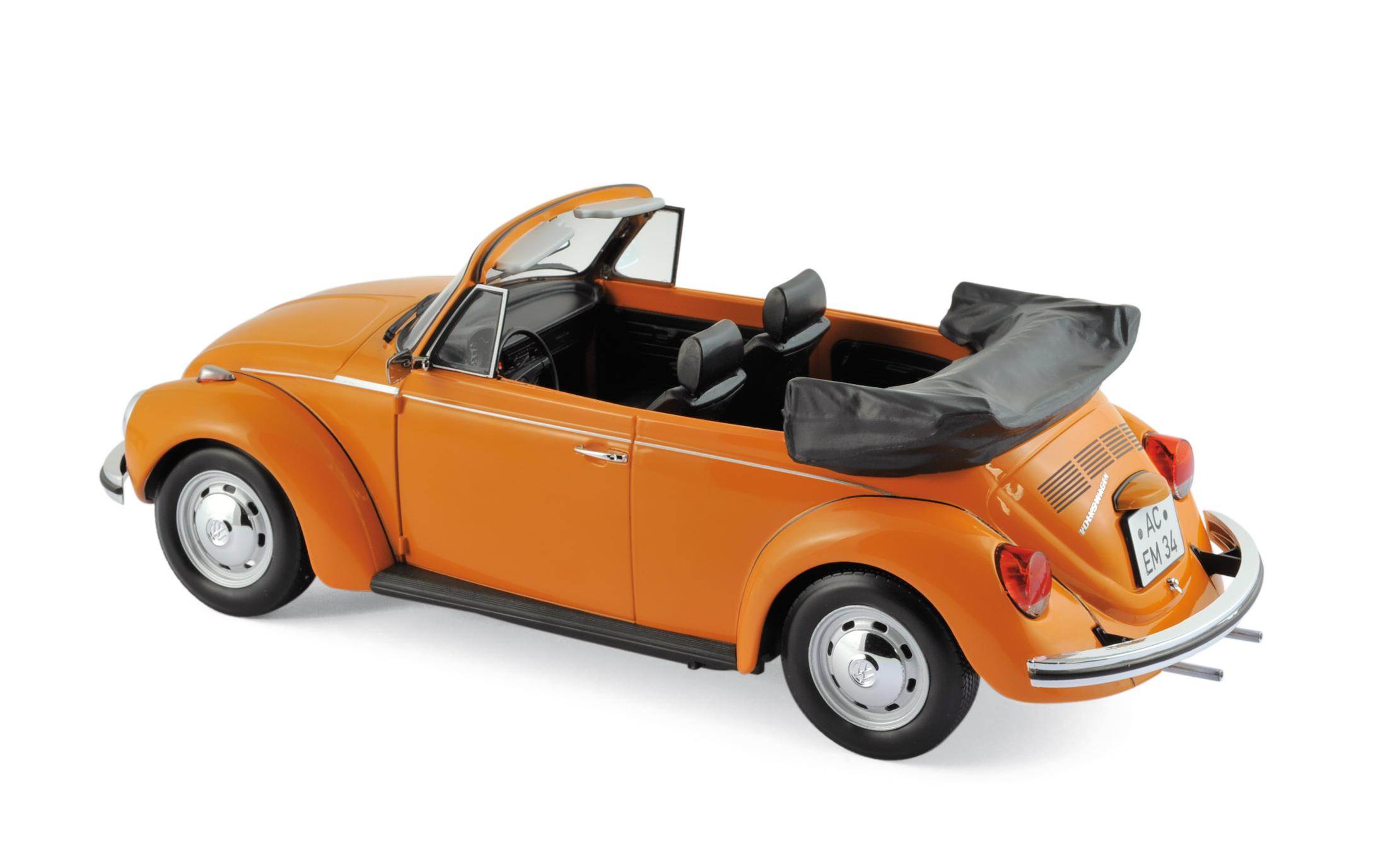 modellauto volkswagen vw k fer 1303 cabriolet 1972 orange norev 1 18 t ren motorhaube. Black Bedroom Furniture Sets. Home Design Ideas