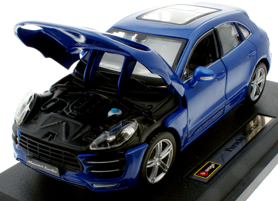 voiture miniature porsche macan metallic blau burago 1 24 sur. Black Bedroom Furniture Sets. Home Design Ideas