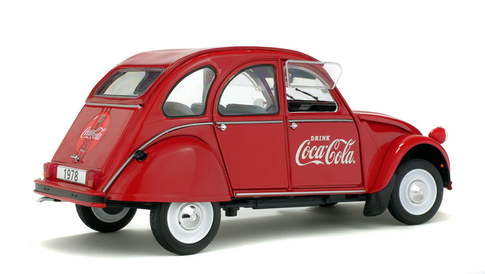 voiture miniature citroen 2cv 6 coca cola solido 1 18 sur modellauto18 de