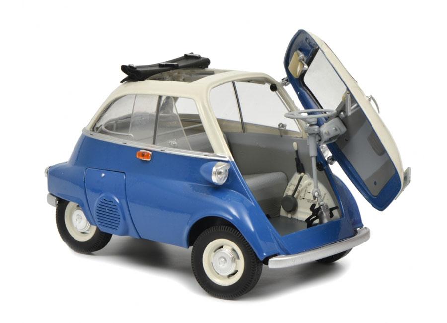 modellauto bmw isetta export blau grau schuco 1 18 bei. Black Bedroom Furniture Sets. Home Design Ideas