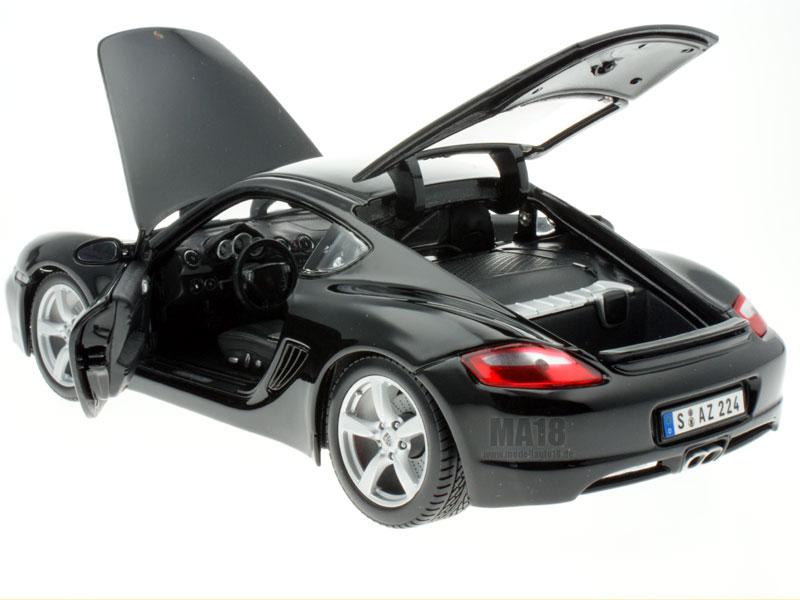 modellauto porsche cayman s black maisto 1 18 bei. Black Bedroom Furniture Sets. Home Design Ideas
