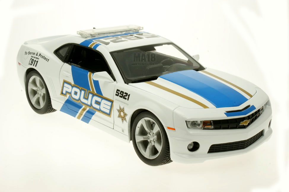 modellauto chevrolet camaro ss rs 2010 police maisto 1 18. Black Bedroom Furniture Sets. Home Design Ideas