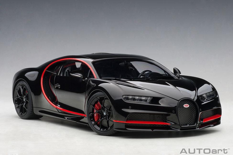 modellauto bugatti chiron nocturne black 2017 composite model lieferbar ab juni 2019 autoart. Black Bedroom Furniture Sets. Home Design Ideas