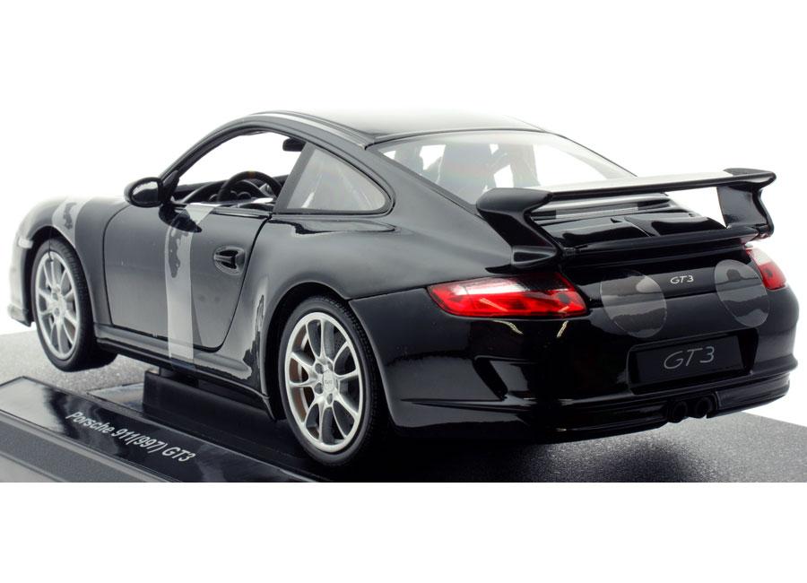 modellauto porsche 911 997 gt3 schwarz welly 1 18 bei. Black Bedroom Furniture Sets. Home Design Ideas
