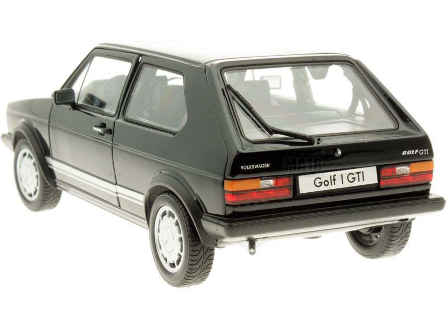 modellauto volkswagen golf 1 gti schwarz welly 1 18 bei. Black Bedroom Furniture Sets. Home Design Ideas