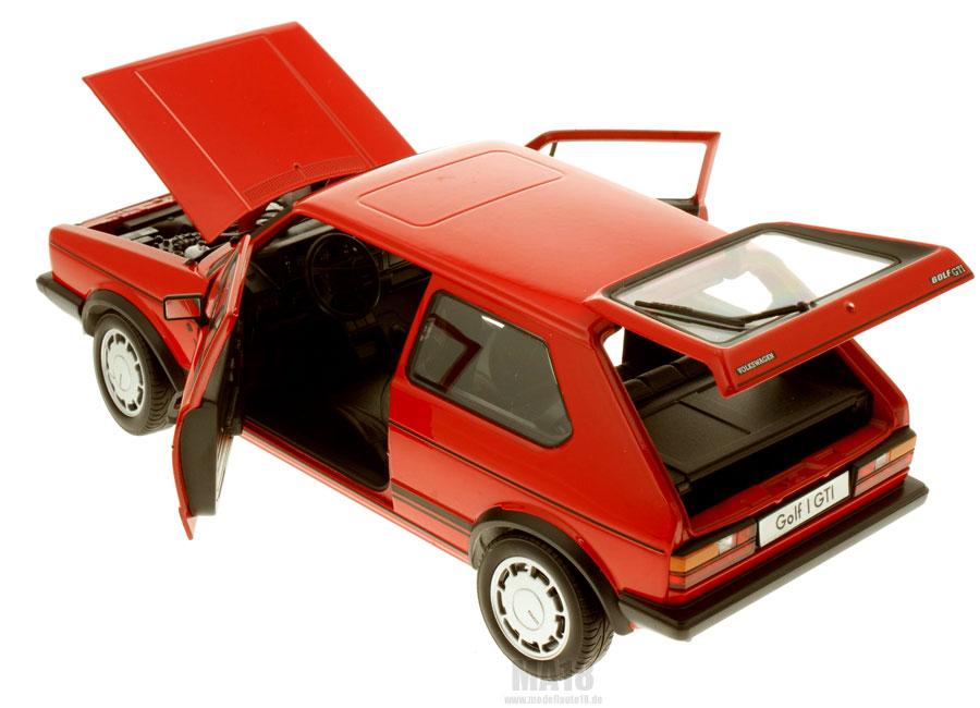 modellauto volkswagen vw golf i gti rot welly 1 18 bei. Black Bedroom Furniture Sets. Home Design Ideas