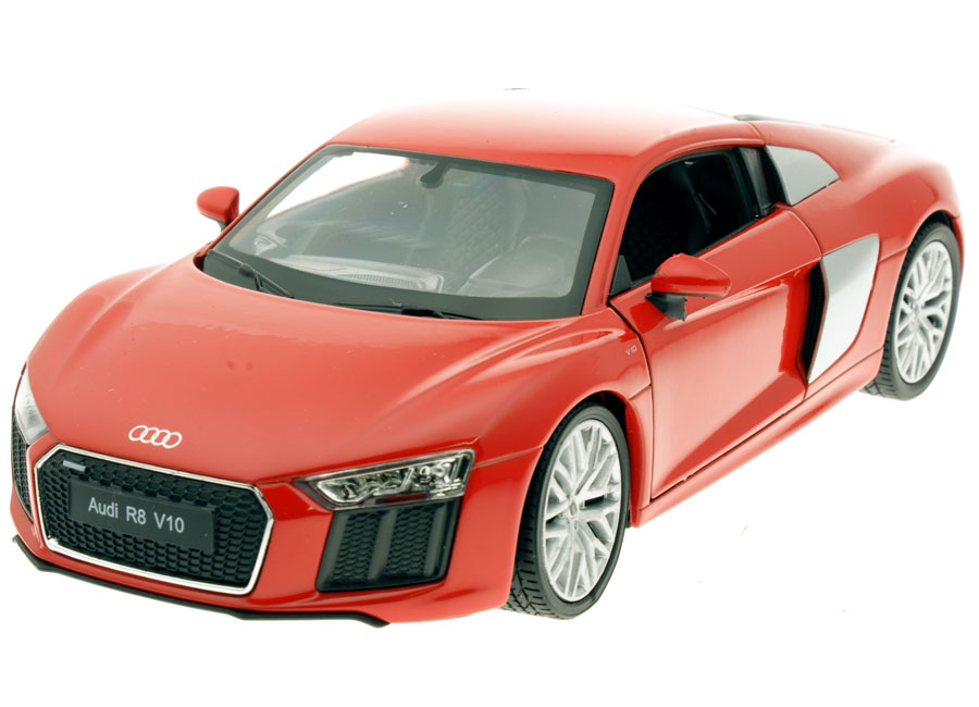 modellauto audi r8 v10 2016 rot welly 1 24 bei. Black Bedroom Furniture Sets. Home Design Ideas