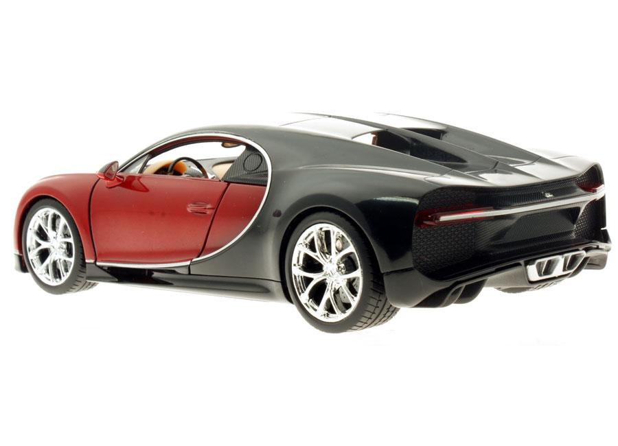 modellauto bugatti chiron rot schwarz 1 24 welly bei. Black Bedroom Furniture Sets. Home Design Ideas
