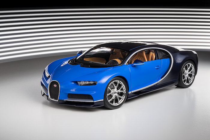 voiture miniature bugatti chiron 2016 blau dunkelblau burago 1 18 sur. Black Bedroom Furniture Sets. Home Design Ideas
