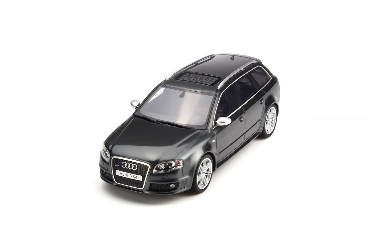 modellauto audi rs4 b7 daytona grey limited to 999 pcs otto mobile 1 18 resinemodell t ren. Black Bedroom Furniture Sets. Home Design Ideas